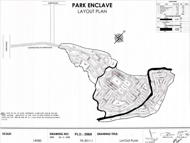 Park Enclave Islamabad Layout Plan phase 1