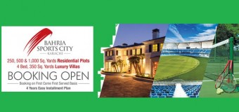Plots and Villas Booking Started in Bahria Sports City Karachi