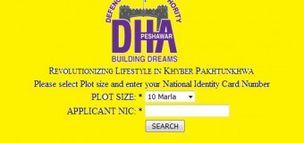 DHA Peshawar Balloting Result held on March 4, 2016