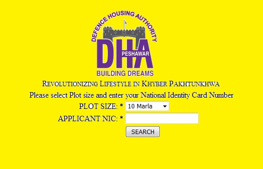 DHA Peshawar Plots Balloting Result 10 Marla and 1 Kanal