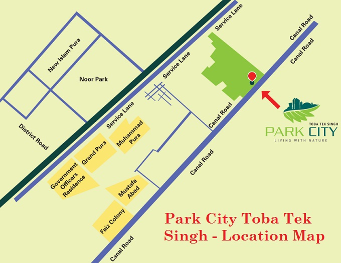 Park City Toba Tek Singh - Location Map