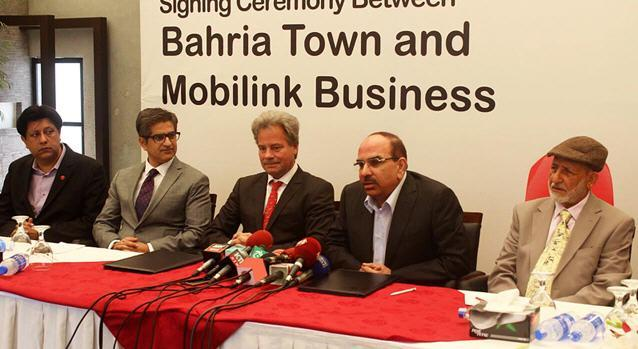 Signing Ceremony Between Bahria Town and Mobilink Business
