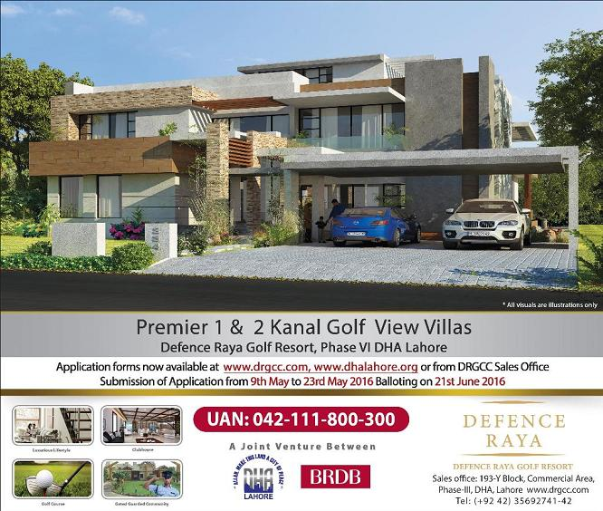 DHA Raya Golf View Villas Lahore