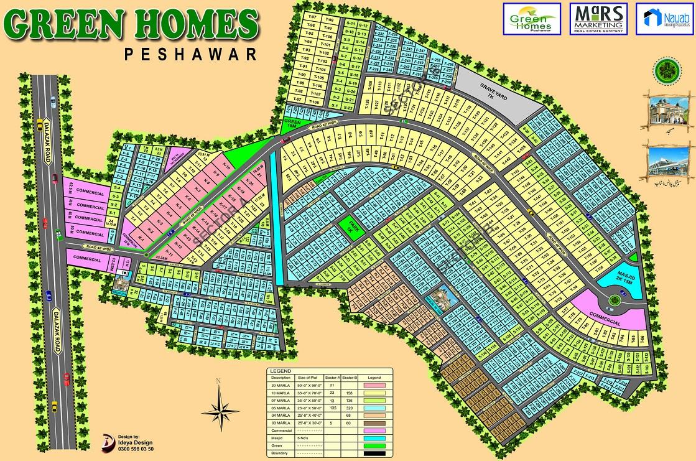 green homes peshawar master plan big size real estate