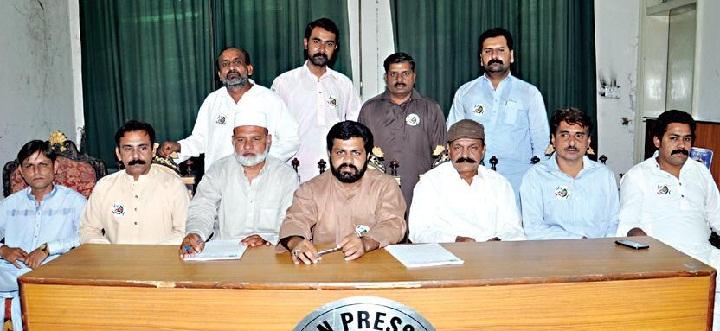 Tehreek e Sada e Haq Multan - Allottees of Fatima Jinnah Town Multan in Press Club