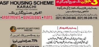 ASF Housing Scheme Karachi – Registration of Apartments, Bungalows and Plots