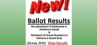 Ashiana-e-Quaid Lahore Balloting for F Block and Extension