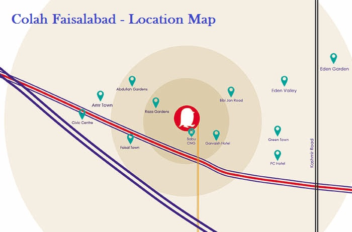 Colah Faisalabad - Location Map