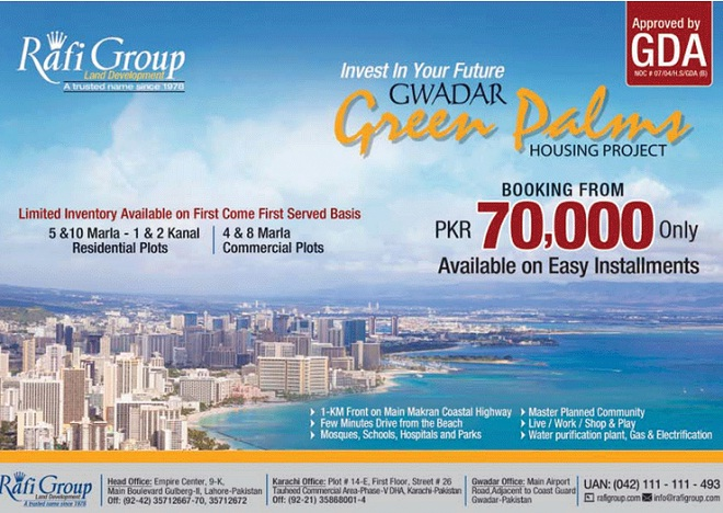 Gwadar Green Palms Housing project by Rafi Group