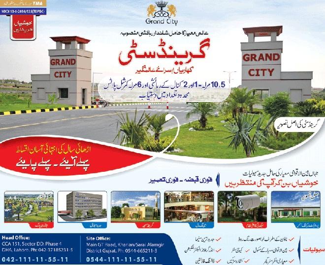 Grand City Kharian-Sarai Alamgir GT Road