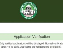 DHA launched Application Verification Online on Website for Multan Plots