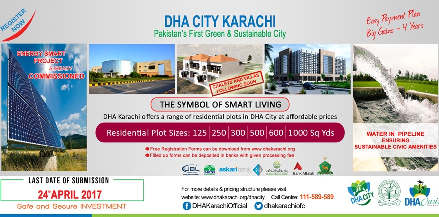 DHA City Karachi Announced Registration of Plot Residential and Commercial