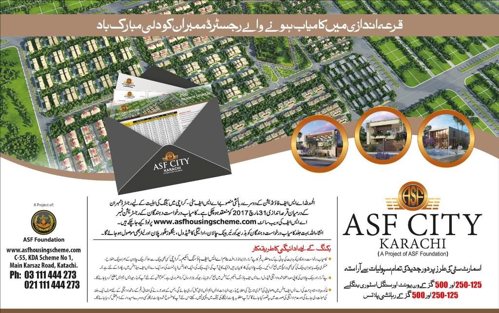 ASF City Karachi Balloting Result Registered members