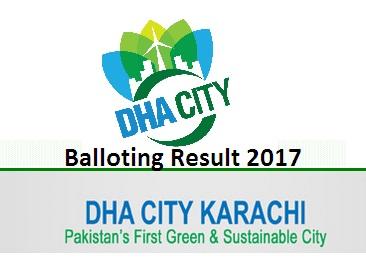 DHA City Karachi Balloting Result 2017