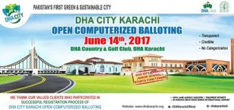 DHA City Karachi Balloting Result June 2017