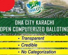 DHA City Karachi (DCK) Balloting Date 14th June 2017 (Wednesday)