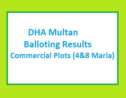 DHA Multan Commercial Plots Balloting Result