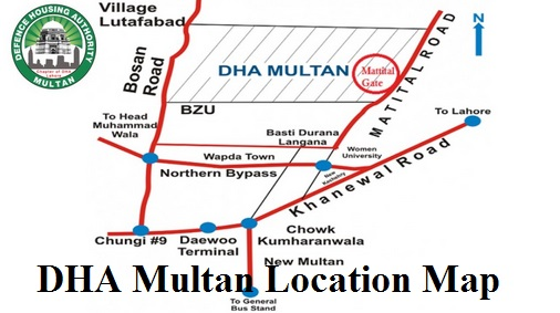 DHA Multan Location Map - Balloting Result 10 Marala, 8 Marla, 5 Marla