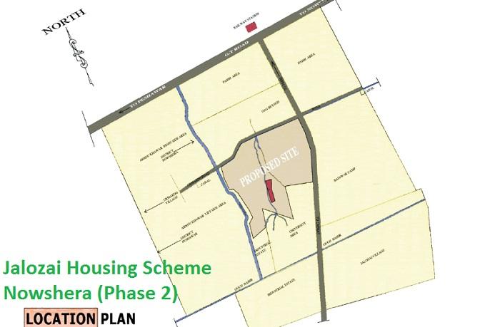 Jallozai Housing Scheme Phase 2 Peshawar Nowshera - Location Map