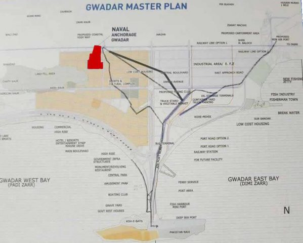 Naval Anchorage Gwadar Housing Scheme - Location Map Plan