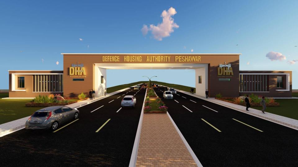 DHA Peshawar Main Gate Picture - Balloting of Plots on 25-12-2017