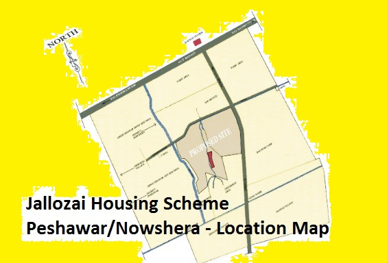 Jallozai Housing Scheme Peshawar-Nowshera Balloting Result Online 2017 - Location Map