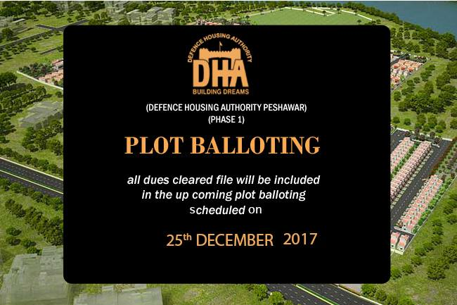 DHA Peshawar Balloting Result and Plot Files 2017