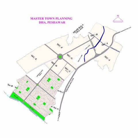 DHA Peshawar Phase 1 Map issued on December 25, 2017