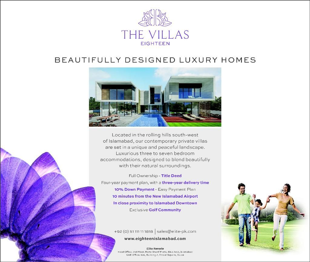 The Villas Eighteen Luxury Homes Located Near Islamabad
