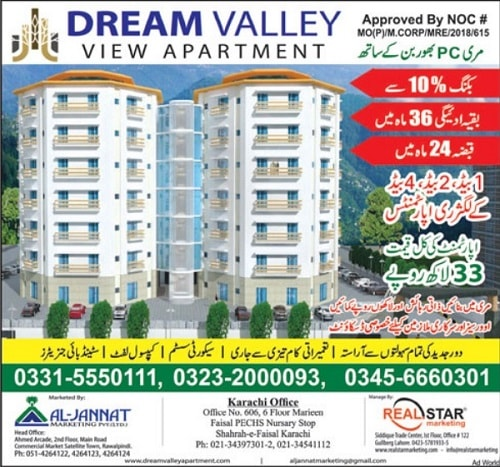 Dream Valley View Apartment Murree Near PC Bhorban