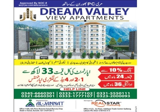 Dream Valley View Apartments Murree Location Map