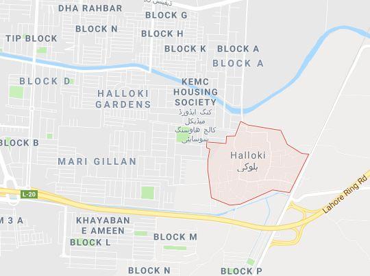 Khayaban e Zafar Housing Scheme Halloki Lahore -Location Map-min