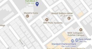 Sapphire Residency Gulshan e Iqbal Karachi -Location Map