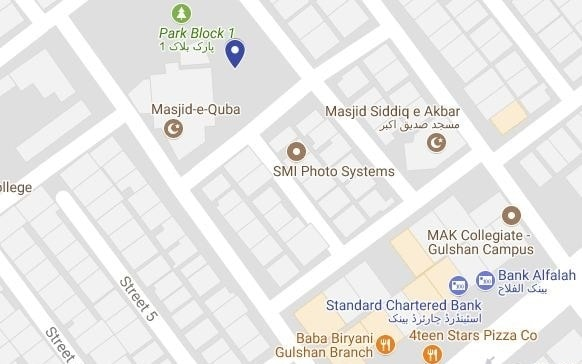 Sapphire Residency Gulshan e Iqbal Karachi - Location Map