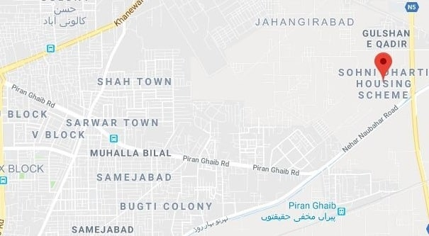 Sohni Dharti Housing Scheme Multan-Location Map