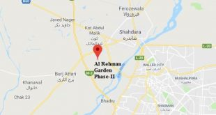 Al-Rehman garden Phase II-location map