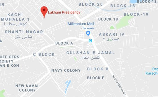 Lakhani Residency Karachi-location Map