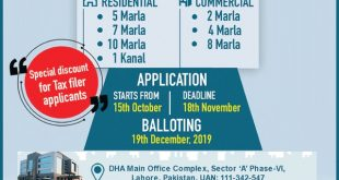 DHA-Lahore-Announced-Open-Balloting-for-Residential-and-Commercial-Plots-Apply-Online-form-15-Oct-2019